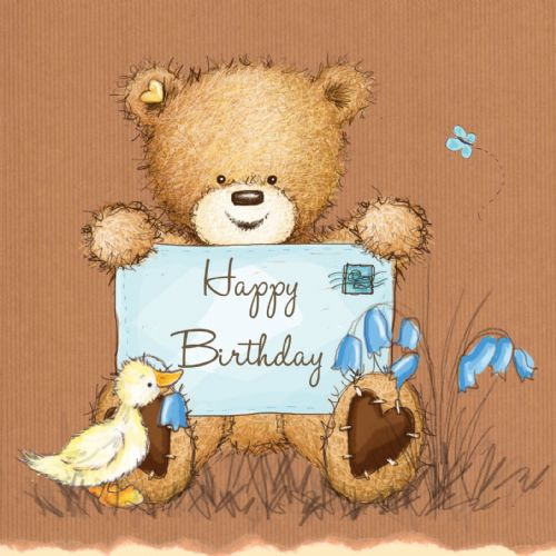 Birthday Bear With Message